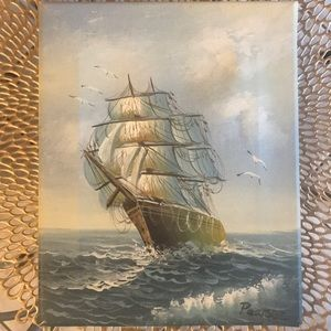 Detailed Ship Stretched Canvas Print